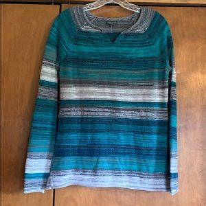 Eddie Bauer Split Neck Sweater Emerald Size Small
